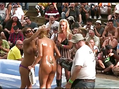 Outdoors Grease Wrestling