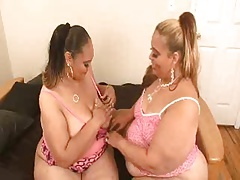 Super-sexy BBWs Having Joy