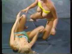 Retro Bathing suit Wrestling