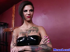 Tattooed  domme romps