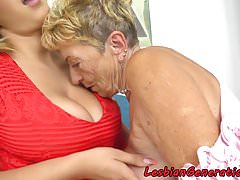 Huge-chested sappho granny..